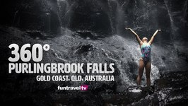 360 video Purlingbrook Falls, Gold Coast, Queensland Australia