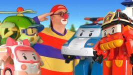 Toy Cars Clown - Robocar Rescue Team Army Parade  Funny Videos For Kids