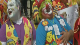 Clowns Try To Set a New Record for Laughing