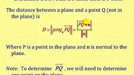 Determining the Distance Between a Plane and a Point