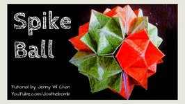 Origami Ball - How to Fold Origami Spiky Ball Cuboctahedron