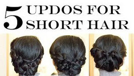 How-To - 5 No-Heat Updo Hairstyles for Short Hair