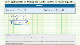 Solve One-Step Equations Using Addition and Subtraction (Whole Numbers)