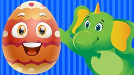 Learn Blue Colour with Funny Egg Surprise and Blue Color Song - ChuChuTV Surprise Eggs Colors for Kids
