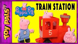 Peppa Pig Blocks Mega Train Station Construction