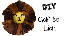 Golf Ball Lion DIY Recycling Craft Series Craft Klatch