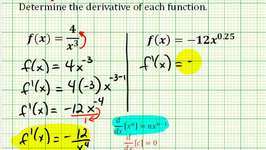 Example 2: Derivatives Using The Power Rule With Negative And Decimal Exponents