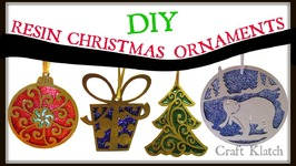 Wood, Resin and Glitter Christmas Ornaments  DIY Project  Craft Klatch  How To