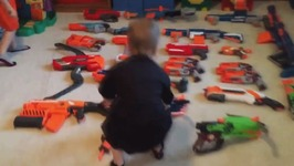 Nerf War  Dual Rhino Trenches Kids React  Happy 1 Year Nerf War Anniversary