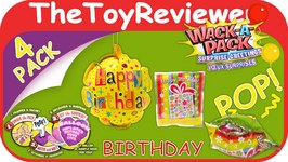 Happy Birthday Wack-a-Pack Surprise Greetings Foil Balloons Unboxing Toy Review by TheToyReviewer