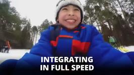 Happy tears! Watch these refugee kids experience snow