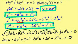 Reduction of Order - Linear Second Order Homogeneous Differential Equations Part 2