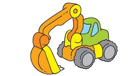 Color My Favorite Toys 1  Excavator And Airplane