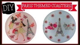 Paris Themed Coaster DIY -Craft Klatch Another Coaster Friday
