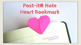 Valentine's Day Craft - DIY Heart Bookmark with Post-it(R) Notes, How to Fold Paper Origami Heart
