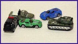 Toy Cars Crazy Clown  Toy Tank Vs  Toy Cars  Children's Toy Video Demos