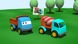 Kids 3D Construction Cartoons For Children 1  Leo The Truck builds A Cement Mixer