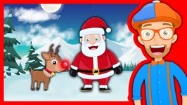 Christmas Songs for Kids with Blippi - Rudolph the Red Nosed Reindeer