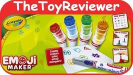 Crayola Emoji Marker Maker Stamper Art Kit Stamp Playset DIY Unboxing Toy Review