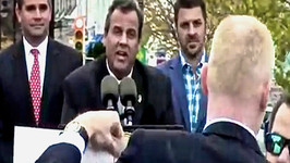 Chris Christie Argues with Hurricane Sandy Heckler