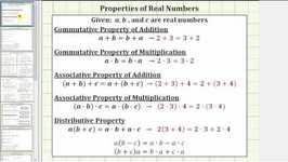 Id Real Number Properties: Distributive And Associative