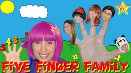 Daddy Finger Family Song- Five Finger Rhymes For Children- Debbie Doo