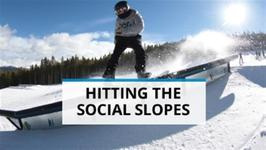Climate change and pro-snowboarder hit the slopes
