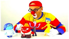 Car Clown - Disney Puppets Disco Party  Sad-Happy-Angry-Scared Toy Collection