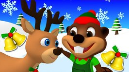 Jingle Bells - Christmas Songs and Carols for Kids - Learn Baby Rhymes - Santa Claus