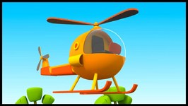 Kid's 3D Construction - Children's Cartoons - Leo's Helicopter