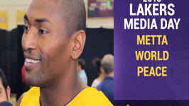 Lakers Media Day - Metta World Peace Excited To Be Home