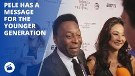 Soccer icon Pele talks younger generation at Tribeca