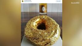This Golden Doughnut Will Class Up Your Coffee Break