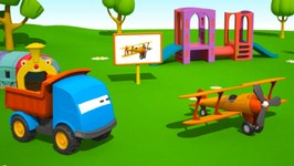 Kid's 3D Cartoons For Children  Leo's Airplane Construction