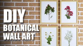 Mad Stuff With Rob - DIY Botanical Wall Art  Room Decor Ideas