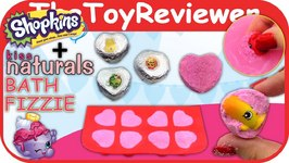 Kiss Naturals Bath Fizzie Bombs DIY Craft Making Kit SHOPKINS Unboxing Toy Review