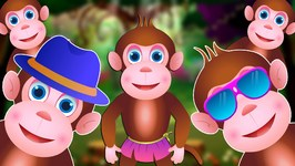 Five Little Monkeys Jumping On The Bed  Part 3 - The Smart Monkeys  ChuChu TV Kids Songs