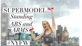 Model Workout- Standing Abs And Arms Workout- NYFW Workout