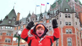 This is Emily Yeung Touring Quebec City