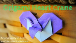 Valentine's Day Crafts - Origami Heart and Crane- How to Fold Crane and Heart - Paper Crafts